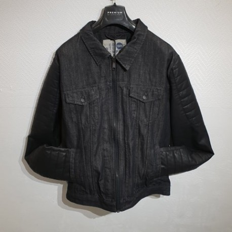 VESTE JEANS/CUIR REXFORD SOLID.