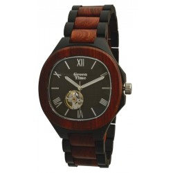 MONTRE EN BOIS DE SANTAL AUTOMATIQUE GREEN TIME.