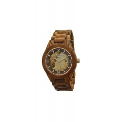 MONTRE EN BOIS, FOND EN PIERRE GREEN TIME.