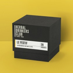 "TISANES ""LE FESTIF"" x20 HERBAL DRINKERS CLUB"